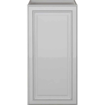 Sunny Wood Riley White with Dover Glaze 18 In. W x 36 In. H x 21 In. D Linen Cabinet Top, 1 Door