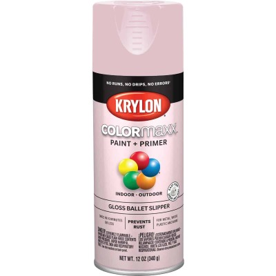 Krylon ColorMaxx Gloss Ballet Slipper 12 Oz. Spray Paint