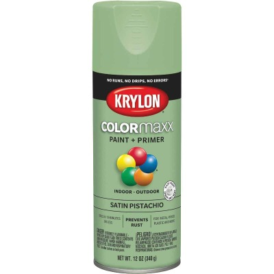 Krylon ColorMaxx Satin Pistachio 12 Oz. Spray Paint