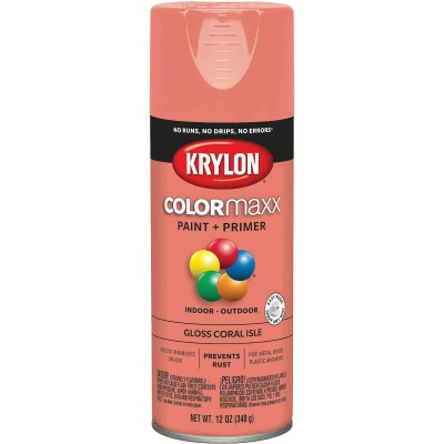 Krylon ColorMaxx Gloss Coral Isle 12 Oz. Spray Paint