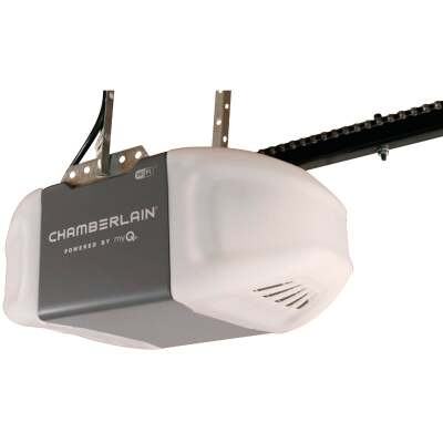 Chamberlain 1/2 HP Smartphone-Controlled Durable Chain Drive Garage Door Opener with WiFi and MED Lifting Power
