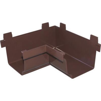 Repla K 5 In. Vinyl Brown Gutter Inside Corner