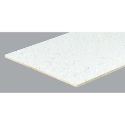 Radar Fissured 2 Ft. x 4 Ft. White Mineral Fiber Square Edge Suspended Ceiling Tile (8-Count)