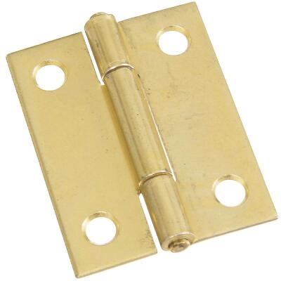 National 2 In. Brass Tight-Pin Narrow Hinge (2 Count)