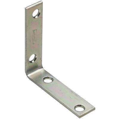 National Catalog V115 2-1/2 In. x 5/8 In. Zinc Steel Corner Brace (4-Count)