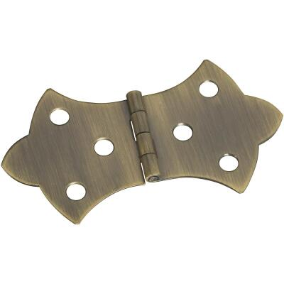 National 1-11/16 In. x 3-1/16 In. Antique Brass Hinge (2-Pack)