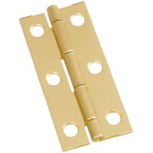 National 1-1/8 In. x 2-1/2 In. Brass Narrow Decorative Hinge (2-Pack) Image 1