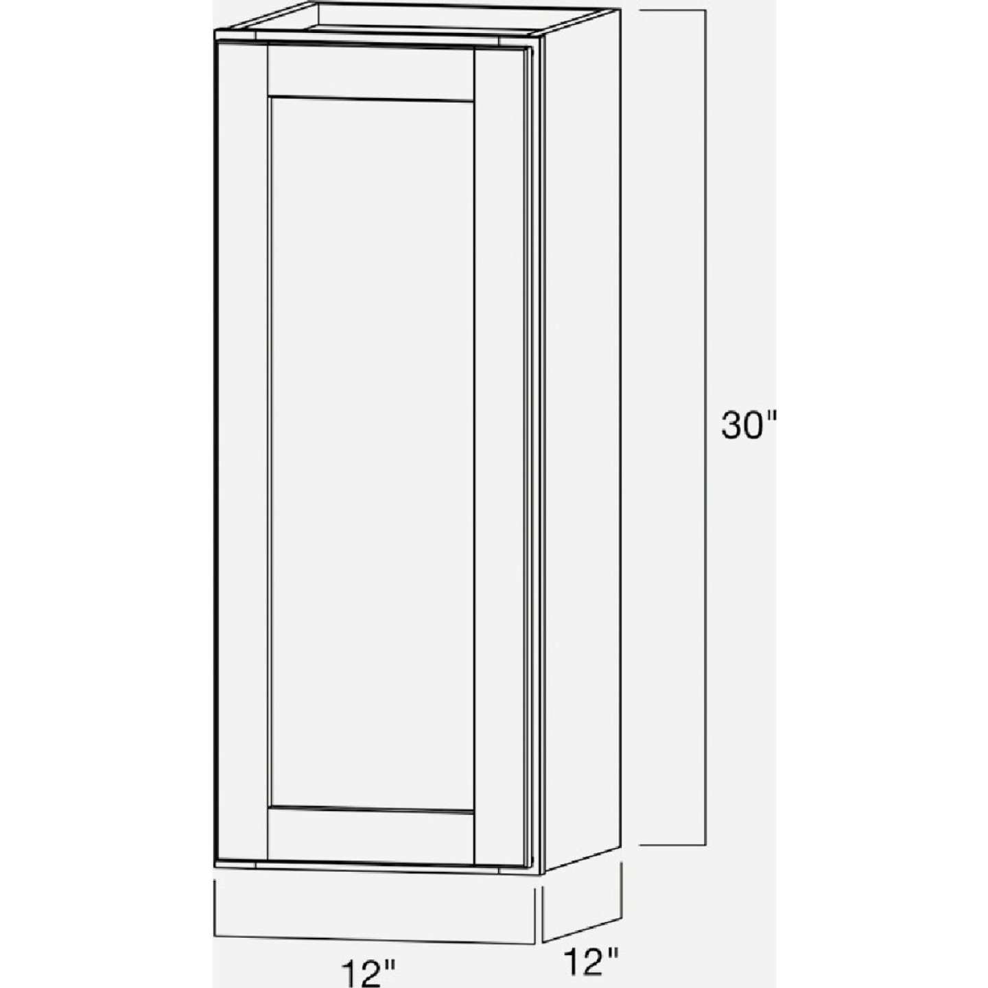 Continental Cabinets Andover Shaker 12 In. W x 30 In. H x 12 In. D White Thermofoil Wall Kitchen Cabinet Image 5