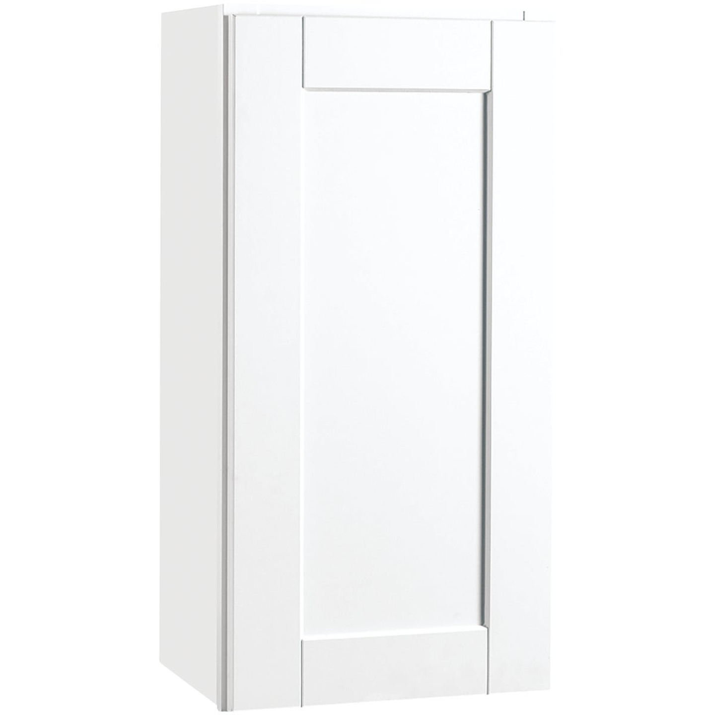 Continental Cabinets Andover Shaker 15 In. W x 30 In. H x 12 In. D White Thermofoil Wall Kitchen Cabinet Image 1