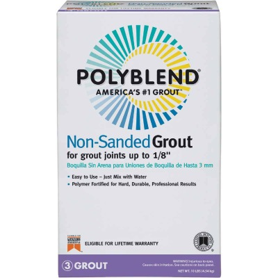 Custom Building Products Polyblend 10 Lb. Light Smoke Non-Sanded Tile Grout