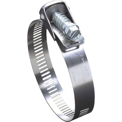 Ideal 4 In. Zinc-Plated Carbon Duct Clamp