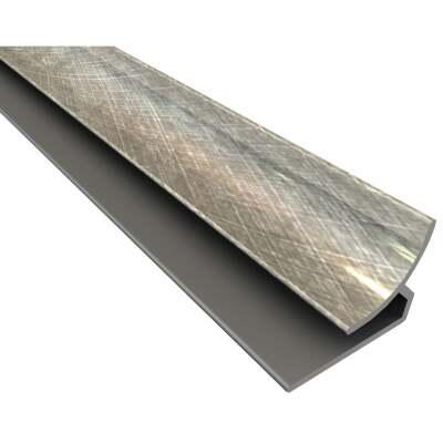 Fasade 18 In. Thermoplastic Inside Corner Backsplash Trim, Cross Hatch Silver