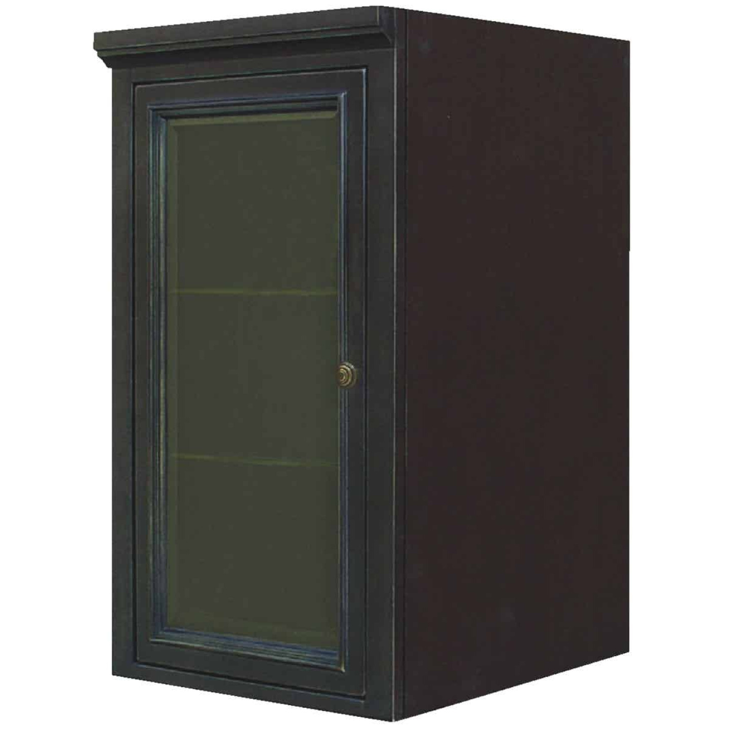 Sunny Wood Barton Hill 18 In. W x 36 In. H x 21 In. D Black Onyx Linen Cabinet Top Image 1