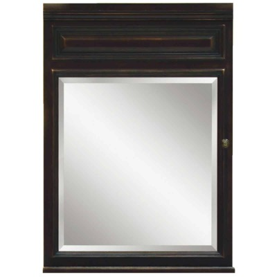 Sunny Wood Barton Hill Black Onyx 26 In. W x 35 In. H x 6-1/4 In. D Single Mirror Surface Mount Medicine Cabinet