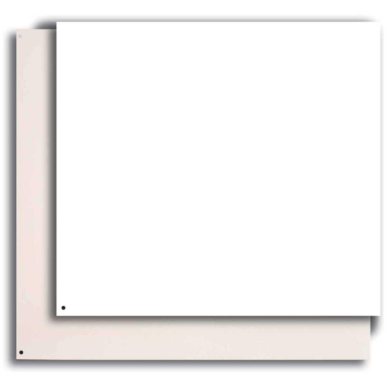 Broan-Nutone 24 In. x 30 In. Aluminum Backsplash Panel, Reversible White/Almond Image 1