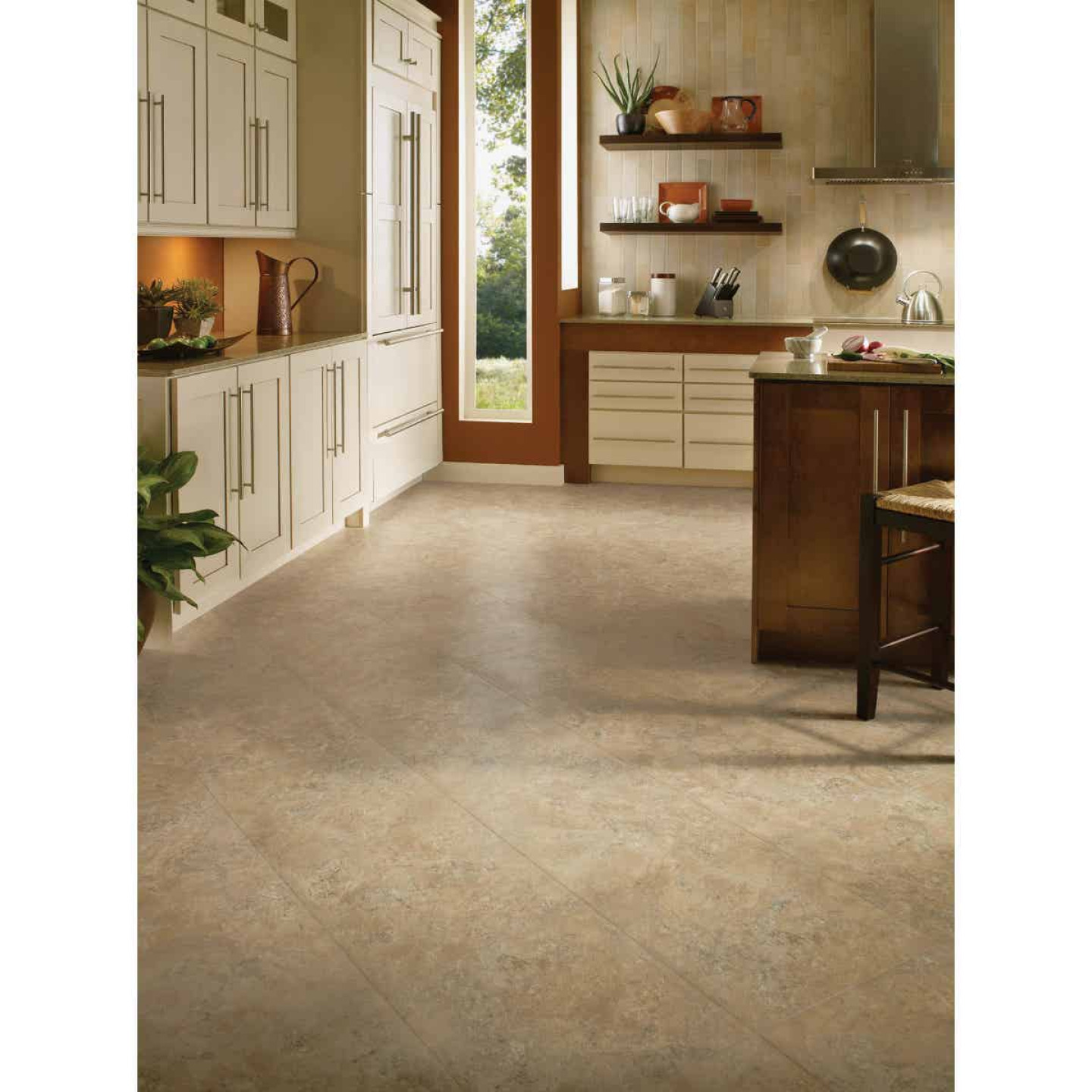 Home Impressions Sand Scape 12 In. x 12 In. Textured Vinyl Floor Tile (30 Sq. Ft./Box) Image 2