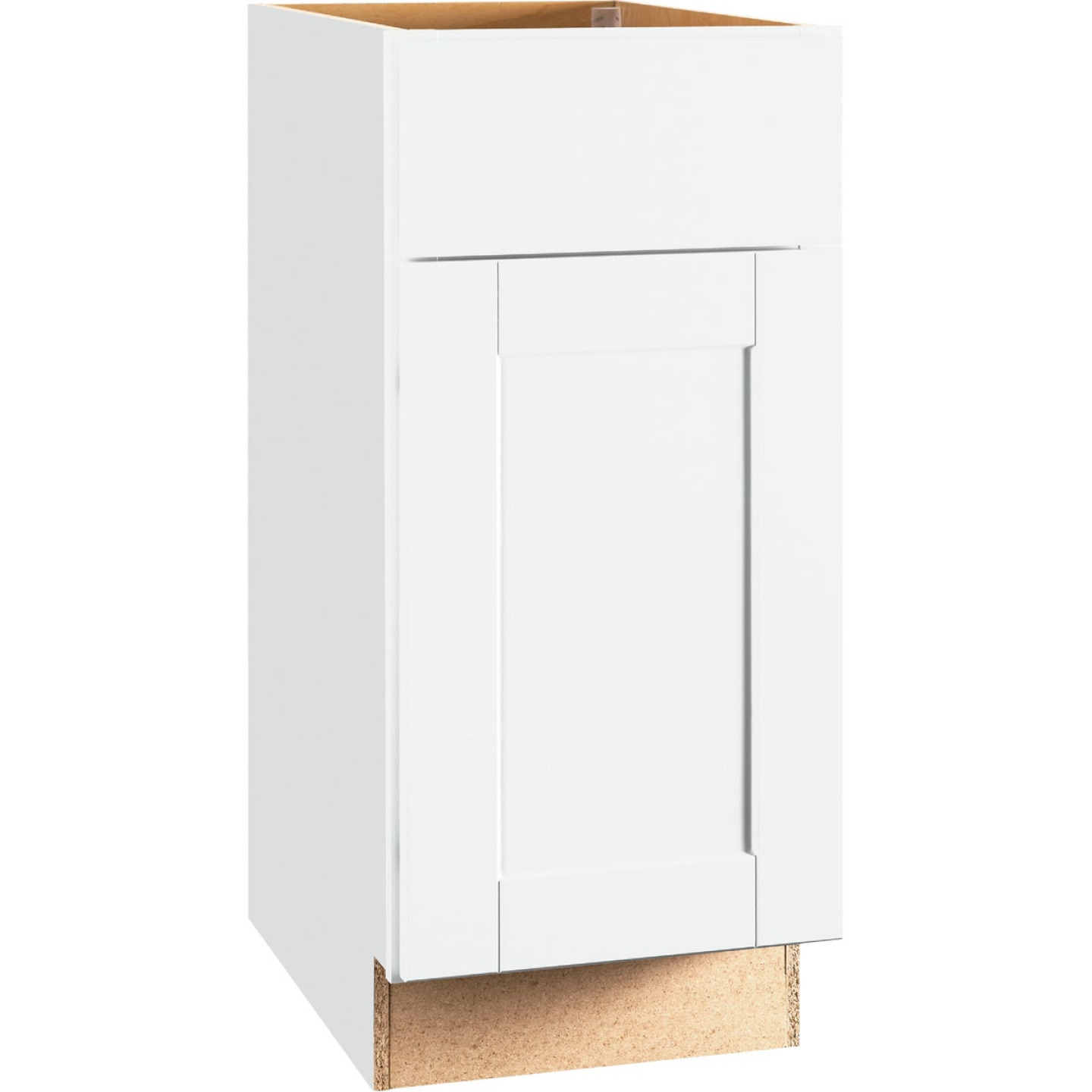 Continental Cabinets Andover Shaker 15 In. W x 34 In. H x 24 In. D White Thermofoil Base Kitchen Cabinet Image 1