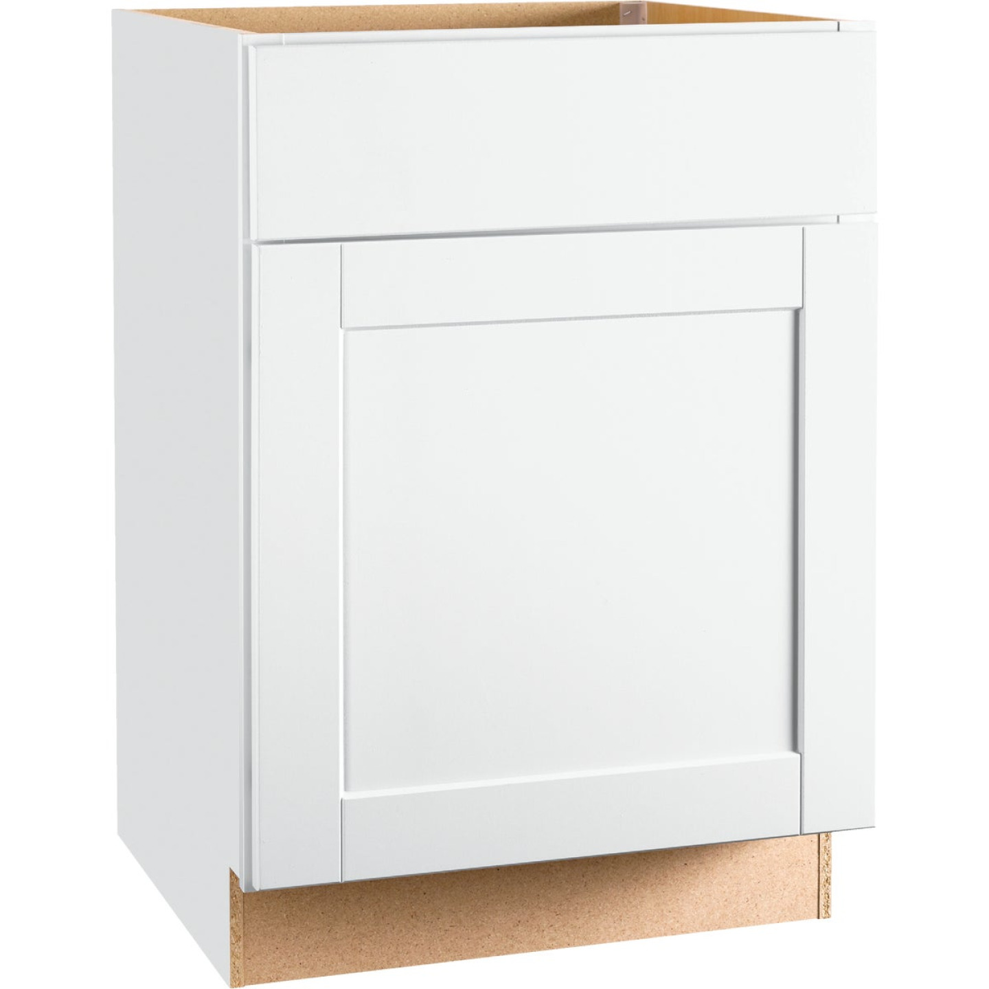 Continental Cabinets Andover Shaker 24 In. W x 34 In. H x 24 In. D White Thermofoil Base Kitchen Cabinet Image 1