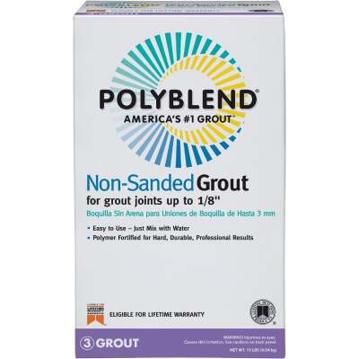Custom Building Products Polyblend 10 Lb. Delorean Gray Non-Sanded Tile Grout