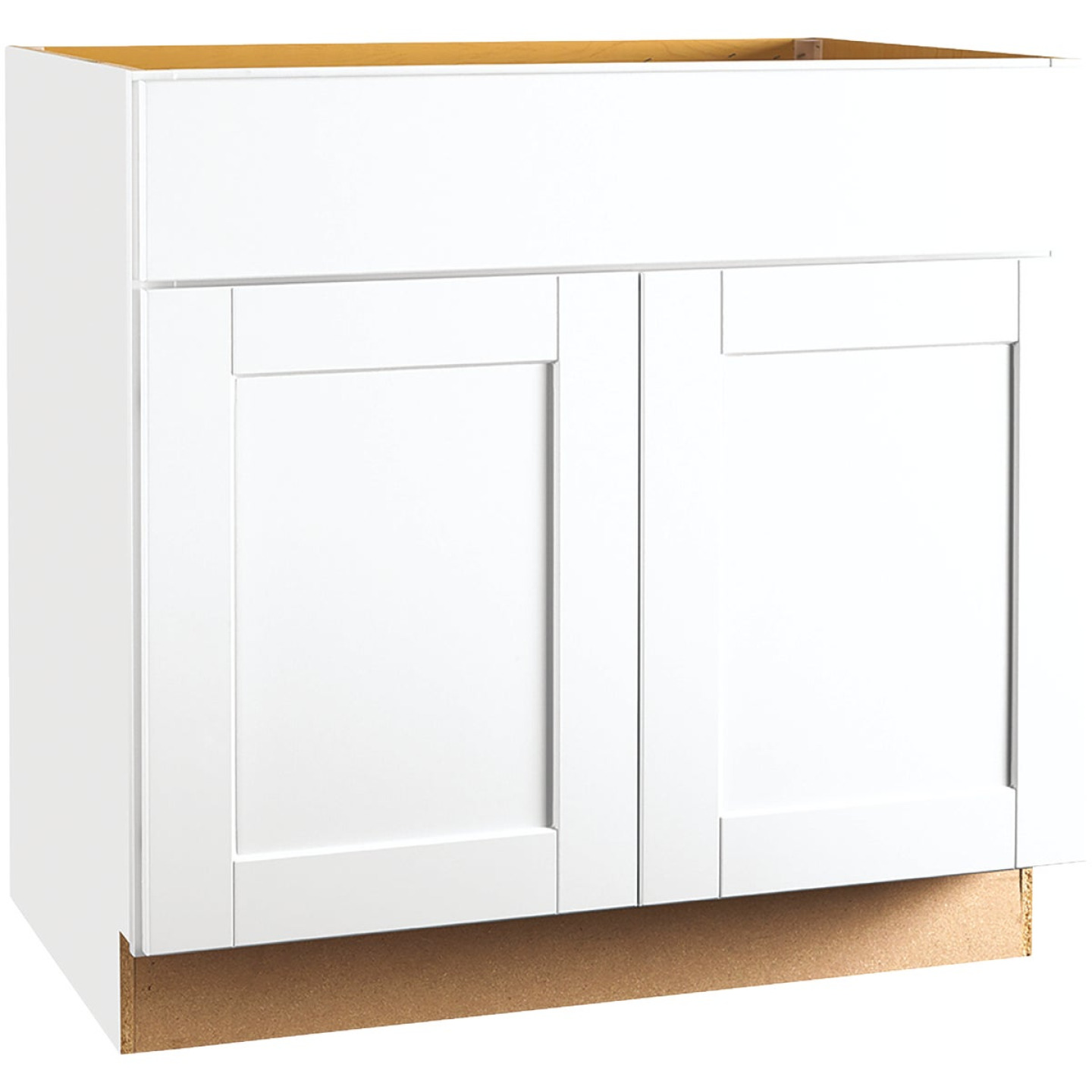 Continental Cabinets Andover Shaker 36 In. W x 34 In. H x 24 In. D White Thermofoil Base Kitchen Cabinet Image 1