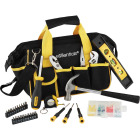 Essentials Around-the-House Homeowner's Tool Set with Black Tool Bag (32-Piece) Image 3