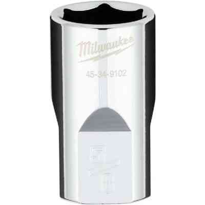 Milwaukee 1/2 In. Drive 5/8 In. 6-Point Shallow Standard Socket with FOUR FLAT Sides