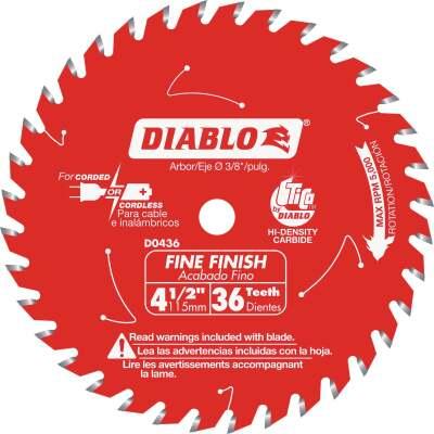Diablo 4-3/8 In. 36-Tooth Finish Circular Saw Blade