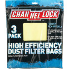 Channellock Paper High Efficiency 12 to 16 Gal. Filter Vacuum Bag (3-Pack) Image 2