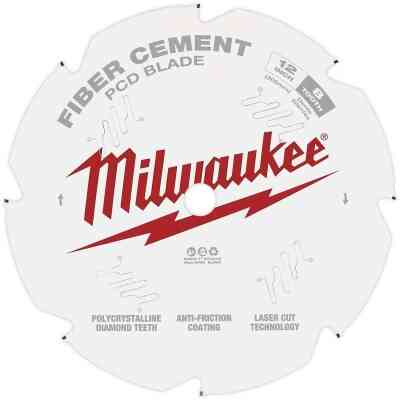 Milwaukee 12 In. 8-Tooth Fiber Cement PCD Circular Saw Blade