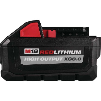 Milwaukee M18 REDLITHUM 18 Volt Lithium-Ion 8.0 Ah High Output XC8.0 Tool Battery