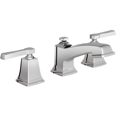 Moen Boardwalk Chrome 2-Handle Lever 8 In. to 16 In. Widespread Bathroom Faucet with Pop-Up
