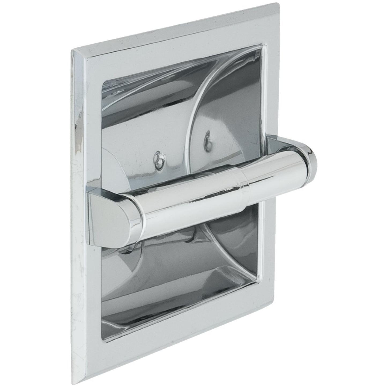 Home Impressions Vista Chrome Recessed Toilet Paper Holder Image 1