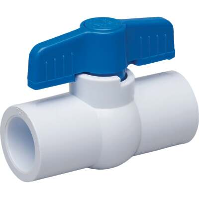 Proline 1 In. Solvent x 1 In. Solvent PVC Schedule 40 Quarter Turn Ball Valve, Non-NSF