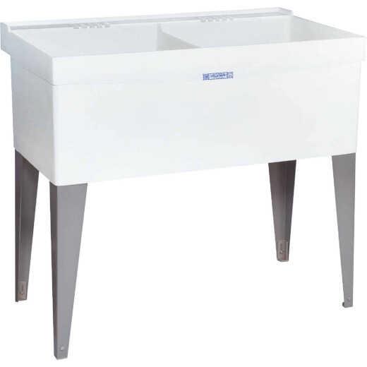Mustee Utilatwin 38 Gallon 40 In. W x 24 In. L Double Laundry Tub