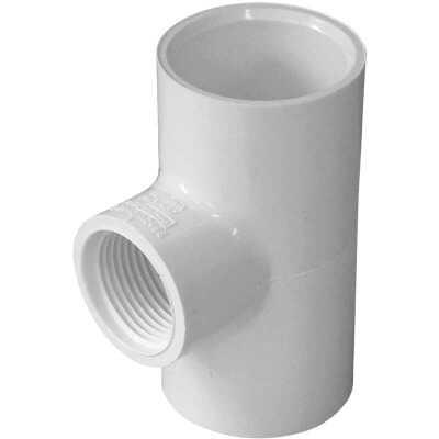 Charlotte Pipe 1 In. Solvent Weld x 3/4 In. FIP Schedule 40 PVC Tee
