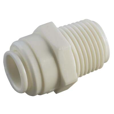 Anderson Metals 3/8 In. x 3/8 In. MPT Push-In Plastic Connector