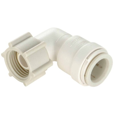 Watts 1/2 In. CTS x 7/8 In. BC 90 Deg. Quick Connect Plastic Elbow (1/4 Bend)