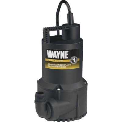 Wayne 1/6 HP Submersible Continuous-Duty Utility Pump