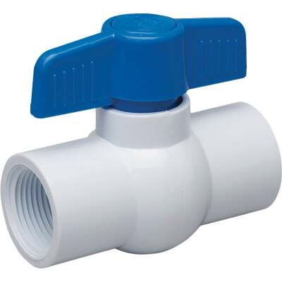 Proline 1/2 In. FIP x 1/2 In. FIP PVC Schedule 40 Quarter Turn Ball Valve, Non-NSF