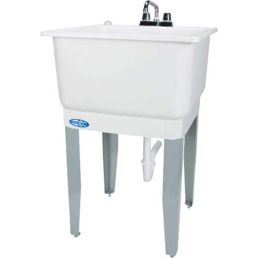 Mustee Utilatub 20 Gallon 23 In. W x 25 In. L Laundry Tub Combo Kit