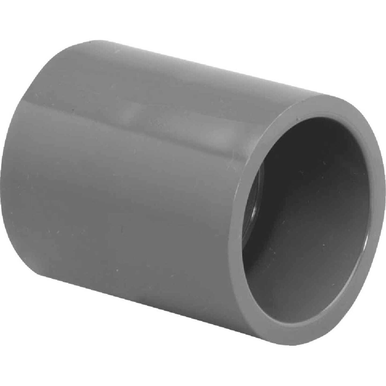 Charlotte Pipe 1-1/4 In. Sch. 80 Slip X Slip PVC Coupling Image 1