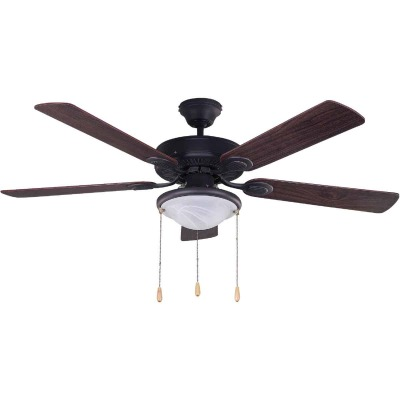 Home Impressions Kincade 52 In. Oil Rubbed Bronze Ceiling Fan with Light Kit