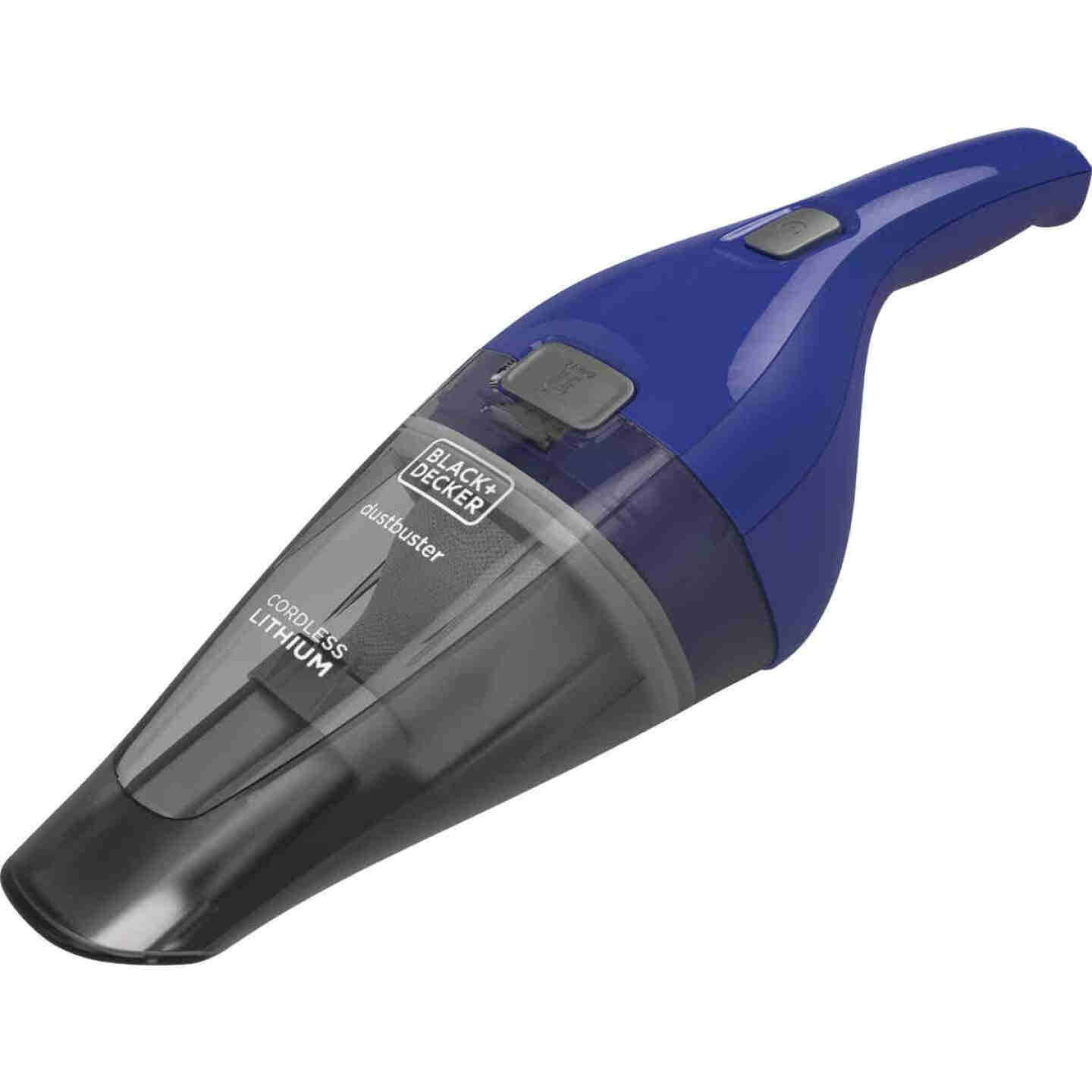 Black & Decker Dustbuster QuickClean 3.6V 1.5AH Cobalt Cordless Handheld Vacuum Cleaner Image 1