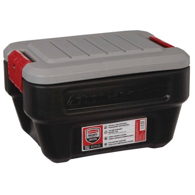 Rubbermaid ActionPacker 8 Gal. Black Storage Tote
