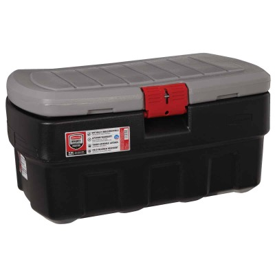 Rubbermaid ActionPacker 35 Gal. Black Storage Tote