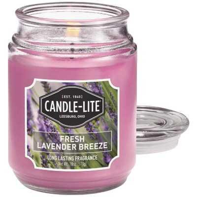 Candle Lite 18 Oz. Everyday Fresh Lavender Breeze Jar Candle