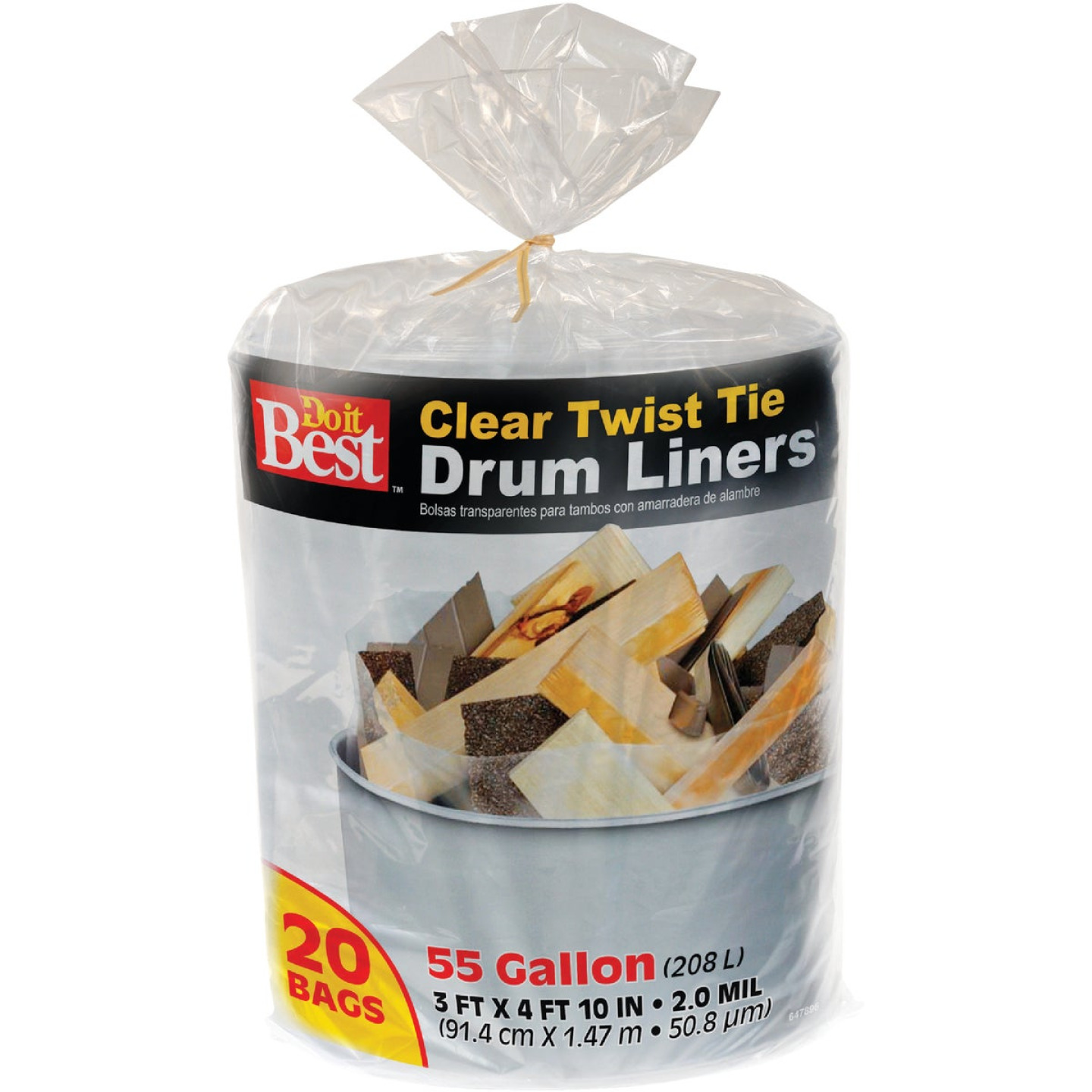 Do it Best 55 Gal. Clear Drum Liner (20-Count) Image 1