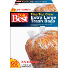 Do it Best 33 Gal. Extra Large Clear Trash Bag (60-Count) Image 1