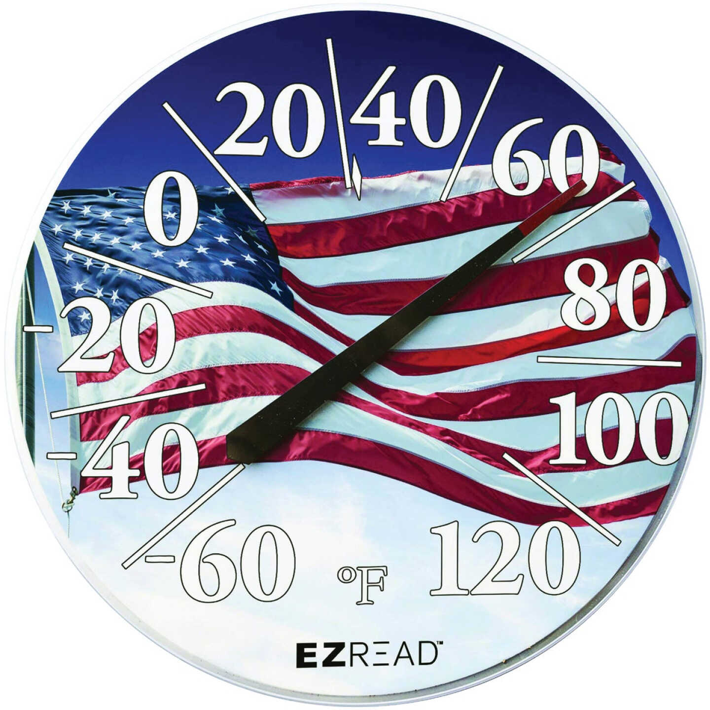 EZRead 12.5 In. Dial Thermometer with American Flag Image 1