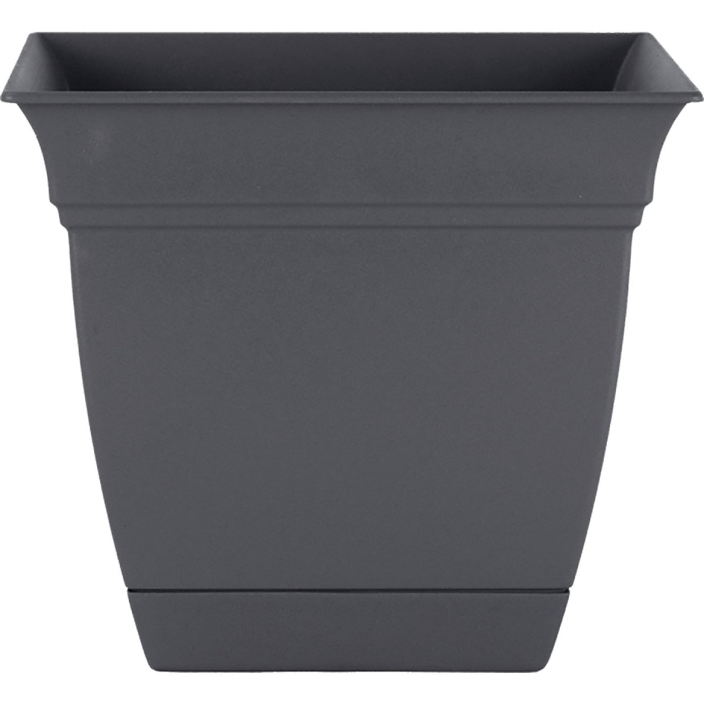 HC Companies Eclipse 8 In. x 8 In. x 7 In. Resin Warm Gray Planter Image 1